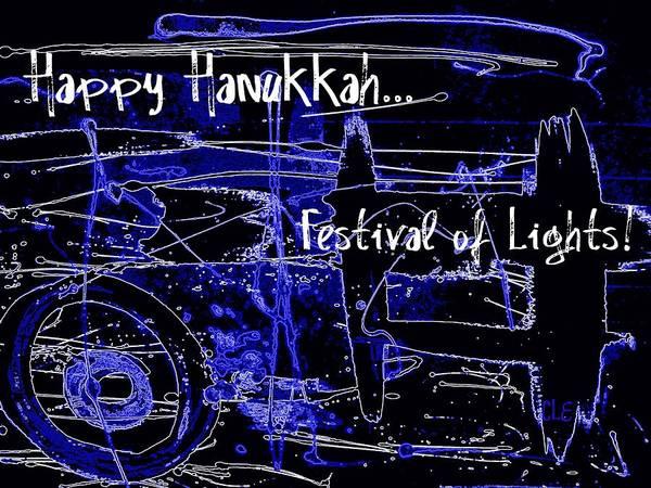 Digital Art - Happy Hanukkah Festival Of Lights by Cleaster Cotton