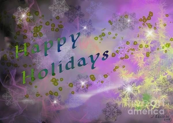 Happy Holidays Card Art Print by Judy Filarecki