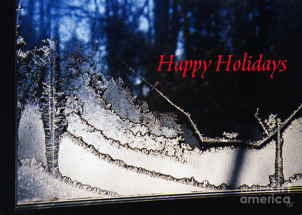Photograph - Happy Holidays Greetingcard by Gerlinde Keating - Galleria GK Keating Associates Inc