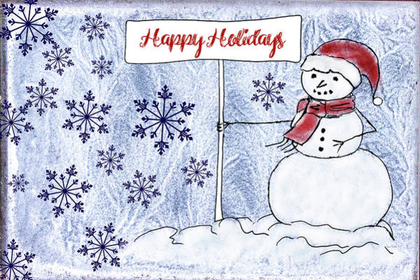 Wall Art - Painting - Happy Holidays by Ramona Murdock