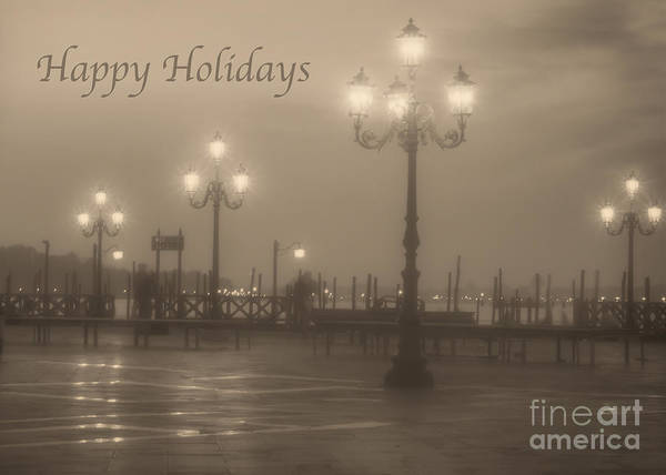 Photograph - Happy Holidays With Venice Lights by Prints of Italy