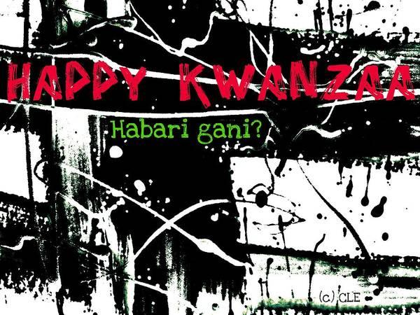 Digital Art - Happy Kwanzaa Habari Gani by Cleaster Cotton