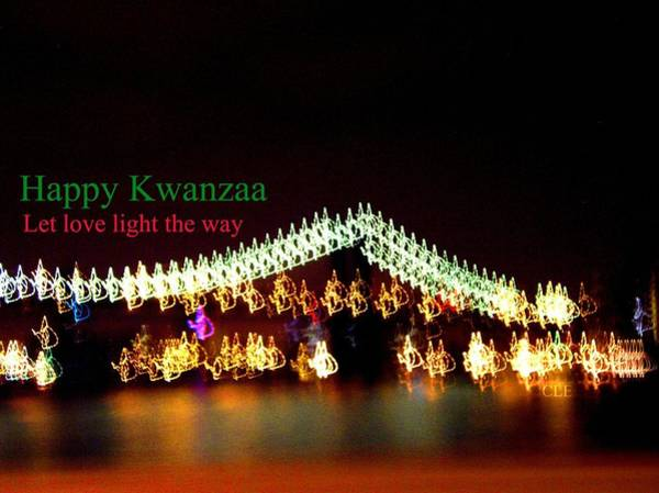 Photograph - Happy Kwanzaa Let Love Light The Way by Cleaster Cotton