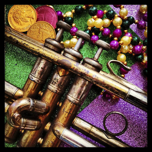 Photograph - Happy Mardi Gras by KG Thienemann