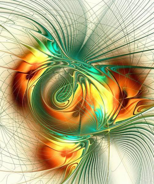 Digital Art - Happy Orange by Anastasiya Malakhova