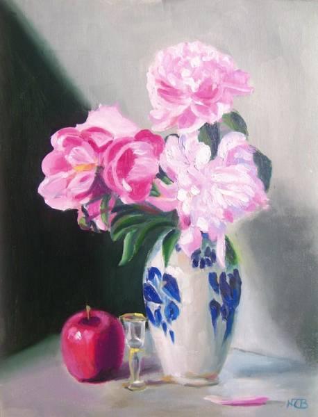 Painting - Happy Peonies by Nicolas Bouteneff
