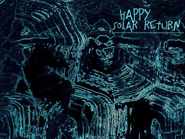 Digital Art - Happy Solar Return Turquoise by Cleaster Cotton