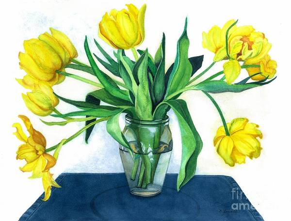 Wall Art - Painting - Happy Spring by Barbara Jewell