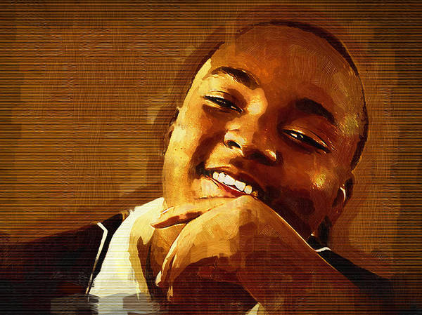 Photograph - Happy Black Male Teen by Ginger Wakem