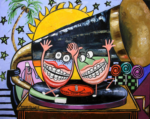 Painting - Happy Teeth When Your Smiling by Anthony Falbo