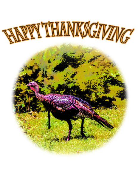Photograph - Holiday - Greeting - Happy Thanksgiving by Barry Jones