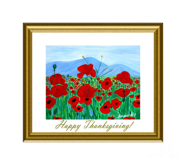 Digital Art - Happy Thanksgiving Card by Oksana Semenchenko