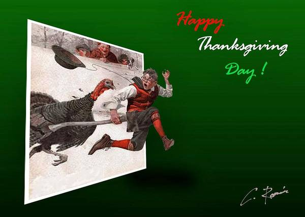 Photograph - Happy Thanksgiving Day by Charlie Roman