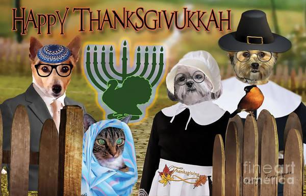 Happy Thanksgivukkah -1 Art Print