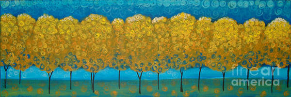 Painting - Happy Trees In A Row by Lee Owenby