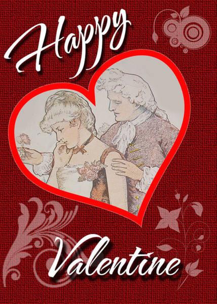 Digital Art - Happy Valentine Card by Charlie Roman