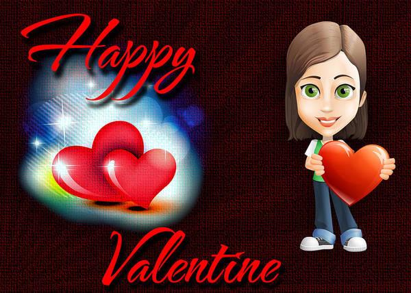 Digital Art - Happy Valentine by Charlie Roman
