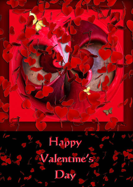 Love Wall Art - Mixed Media - Happy Valentine's Day Card by Paula Ayers