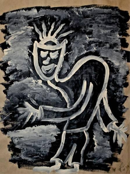 Painting - Happy Walk by Mario MJ Perron