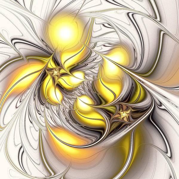 Cheery Digital Art - Happy Yellow by Anastasiya Malakhova