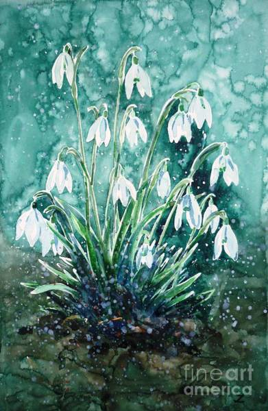 Snowdrop Painting - Harbingers Of Spring by Zaira Dzhaubaeva
