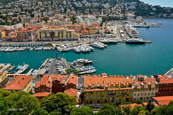 Photograph - Harbor At Nice France by Allen Sheffield