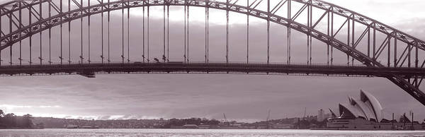 Suspended Photograph - Harbor Bridge, Pacific Ocean, Sydney by Panoramic Images