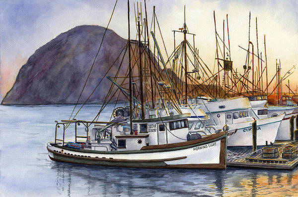 Fishing Boat Painting - Harbor Home by Karen Wright