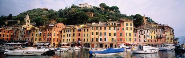 Portofino Photograph - Harbor Houses Portofino Italy by Panoramic Images