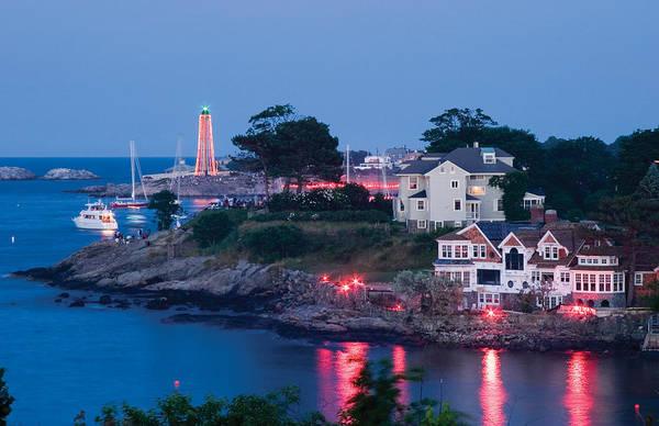 Photograph - Marblehead Harbor Illumination by Jeff Folger