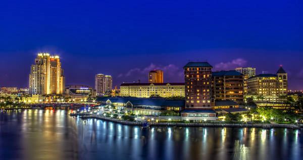 Tampa Photograph - Harbor Island Nightlights by Marvin Spates