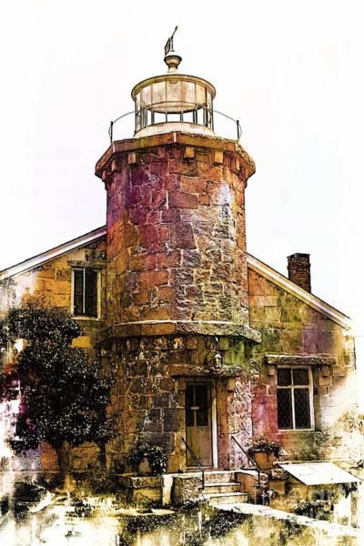 Stonington Photograph - Harbor Lighthouse by Marcia Lee Jones