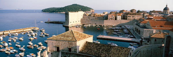Leisurely Photograph - Harbor Of Dubrovnik, Croatia by Panoramic Images