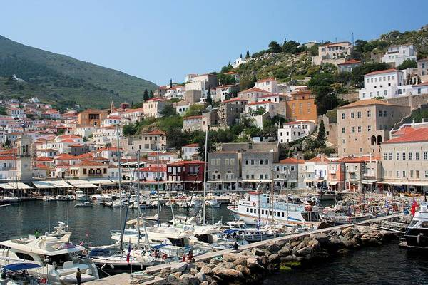 Photograph - Harbor Of Hydra by Gordon Elwell