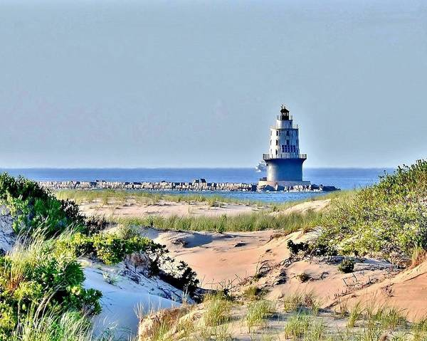Bemis Photograph - Harbor Of Refuge Lighthouse by Kim Bemis
