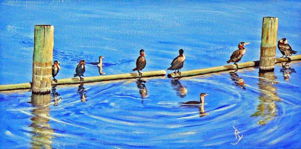 Painting - Harbor Patrol by Ray Nutaitis