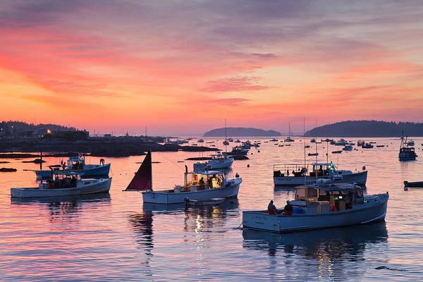 Stonington Photograph - Harbor Sunrise by Patrick Downey