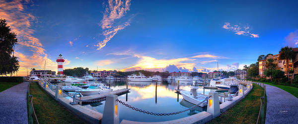 Photograph - Harbor Town Panorama by Steven Llorca