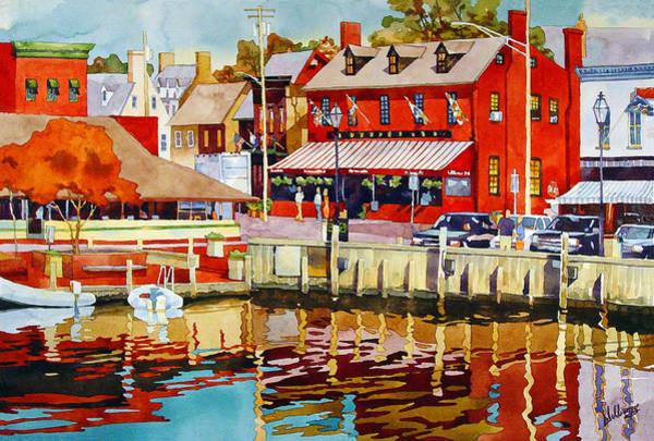 Harborfront Tavern Art Print