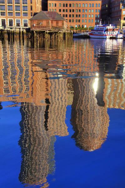 Photograph - Harborside Reflections 2 by Joann Vitali