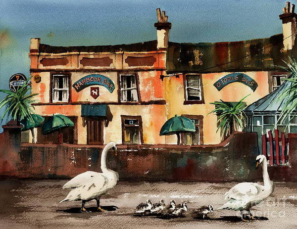 Painting - Harbour Bar,,, Bray by Val Byrne