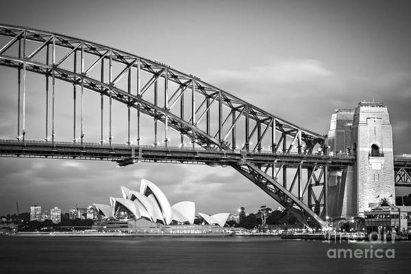 Wall Art - Photograph - Harbour Bridge And Opera House Sydney by Colin and Linda McKie