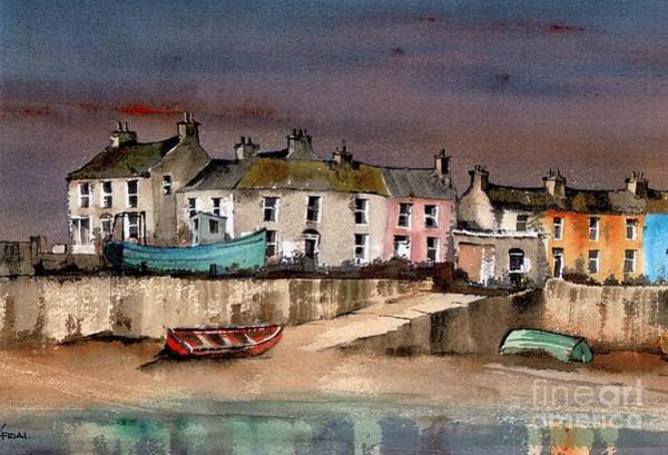 Painting - Harbour Dusk Greystones Wicklow by Val Byrne