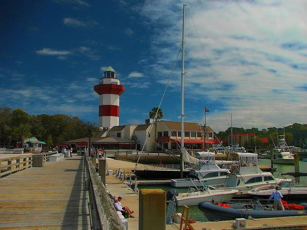 Photograph - Harbour Town Lighthouse Boardwalk by Dale Kauzlaric
