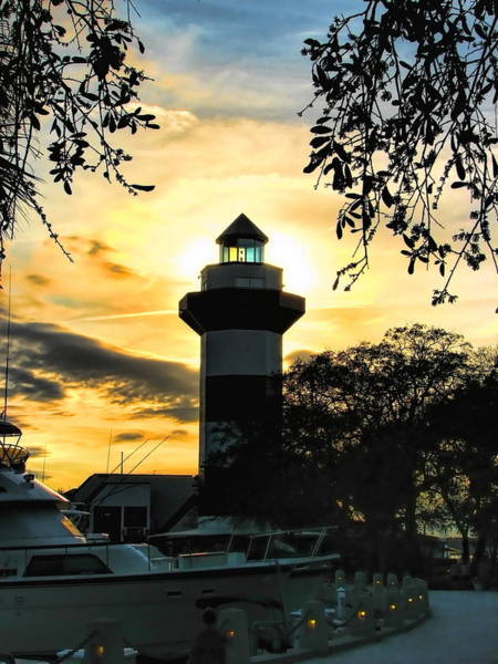 Photograph - Harbour Town Lighthouse Beacon by Dale Kauzlaric