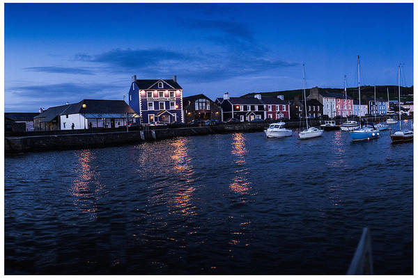 Harbourmaster Hotel Aberaeron At Dusk Art Print