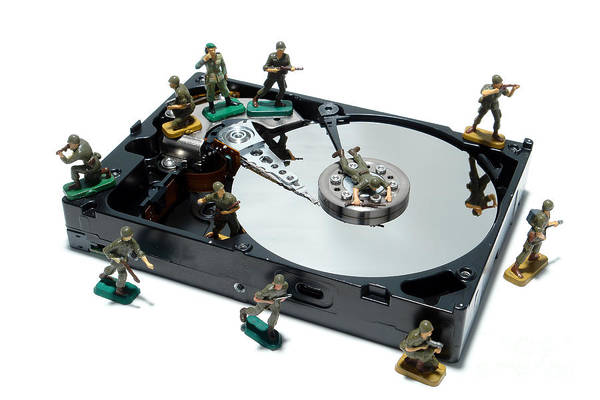 Photograph - Hard Drive Defense  by Olivier Le Queinec