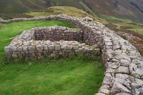 Roman Wall Photograph - Hardknott Roman Fort by Mark Williamson