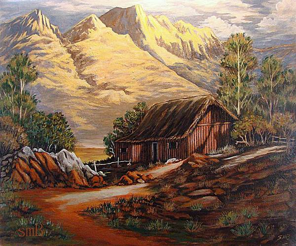 Bergstrom Painting - Hardtack Homestead by Susan Bergstrom