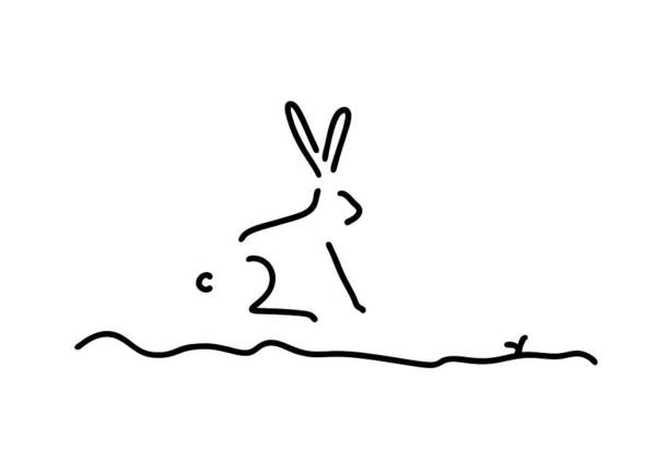 Lineart Drawing - Hare Wildly by Lineamentum